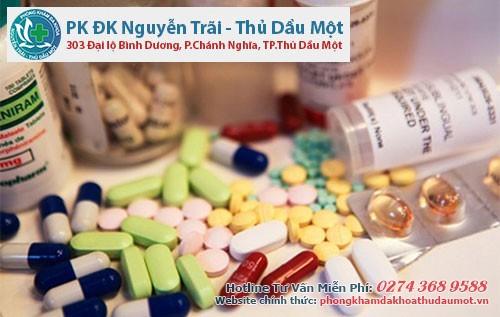 Thuốc kháng sinh sẽ hỗ trợ điều trị các viêm nhiễm