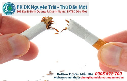 hút thuốc lá sẽ khiến tinh binh bị giảm chất lượng và số lượng