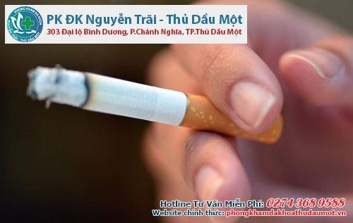 Thói quen hút thuốc lá làm tăng nguy cơ