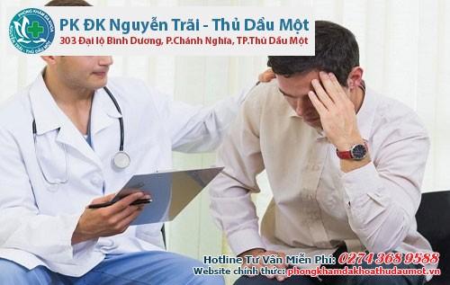 Nam giới nên tìm gặp bác sĩ để được thăm khám