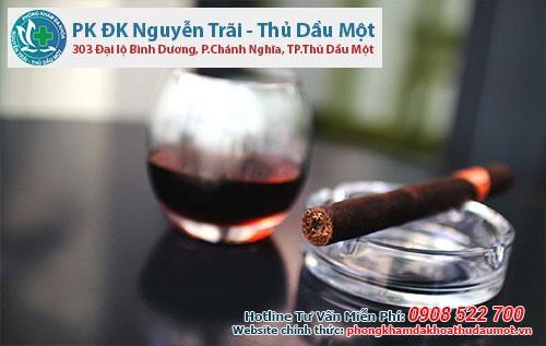 rượu và thuốc lá có thể dẫn đến vô sinh