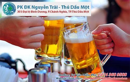 Uống bia nhiều sẽ dễ dàng gặp tình trạng
